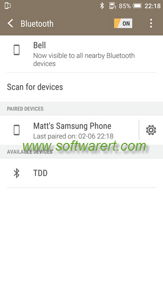 how to connect two phones via bluetooth