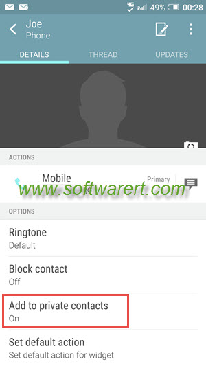 how to hide contacts name and photo for in ing calls on