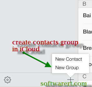 new contact or a new contact group see below screenshot