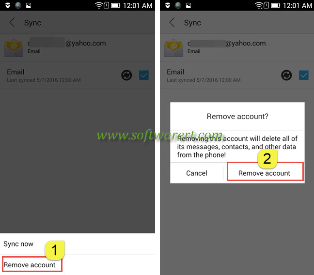 Delete email account from Lenovo - 45.3KB
