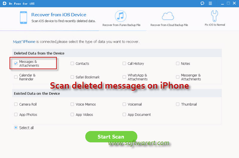 how to find deleted messages on iphone 6 without icloud
