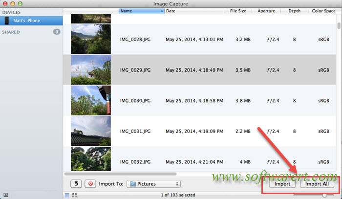 how to import photos from iphone to mac and delete