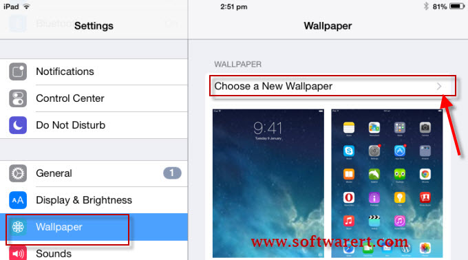 how to change setting numbers on ipad