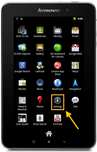 how to find privacy settings on this tablet