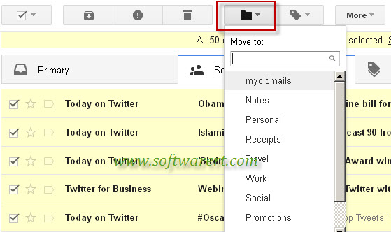 move emails to new label in gmail