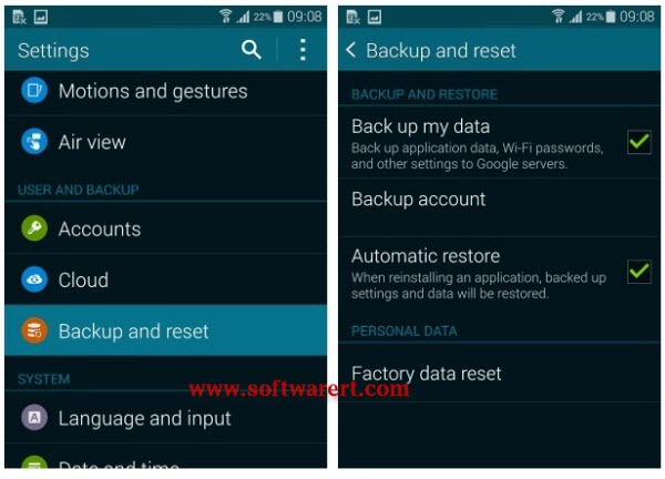 How to restore from samsung cloud storage