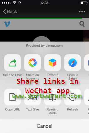 how to share links in wechat moments