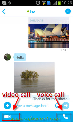 how to send a video through text on android