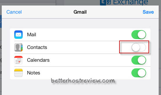 sync gmail mail contacts calendars notes to ipad
