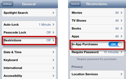 how to turn off restrictions on iphone prevent buying in app purchase on iphone 5696