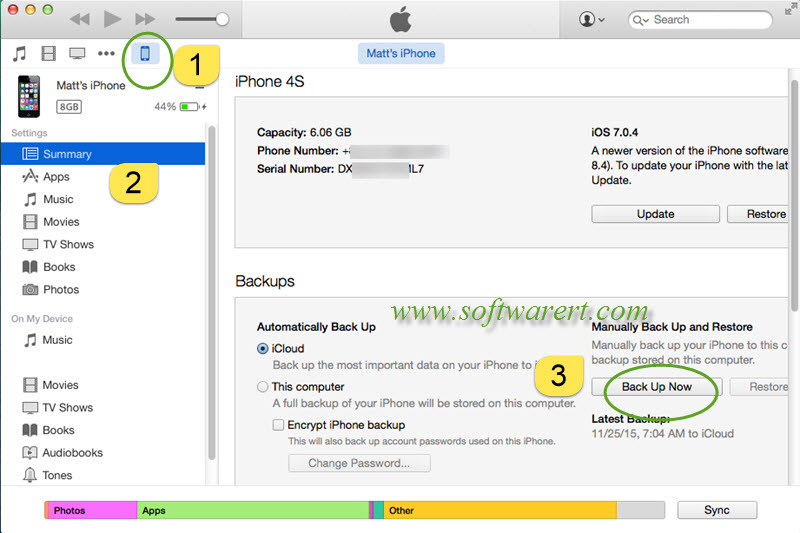 how to back up iphone with itunes back up iphone to mac through itunes 6290