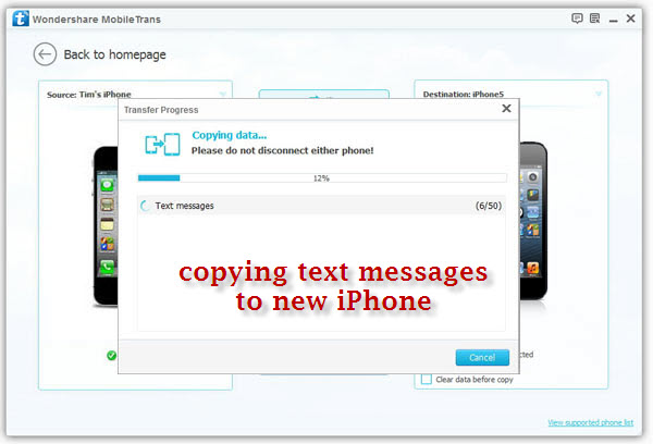 how to transfer messages to new iphone transfer sms from iphone to iphone 4769