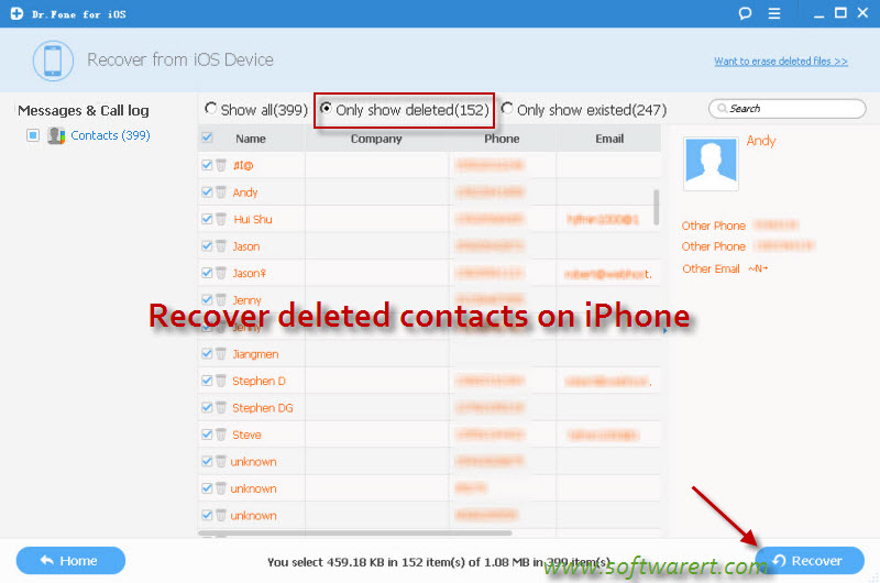 how to find deleted contacts on iphone how to restore contacts on iphone 6 20045