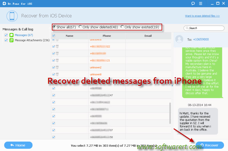recover deleted text messages iphone how to recover deleted messages on iphone 6 1769