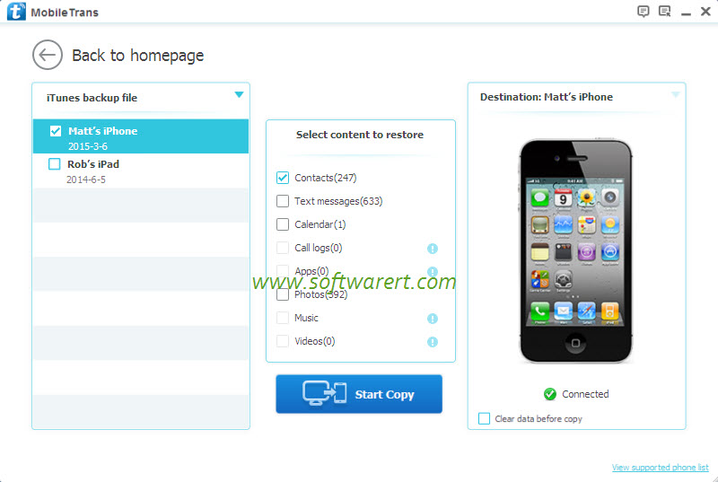 Restore Contacts From Itunes Backup To Iphone Using Mobile